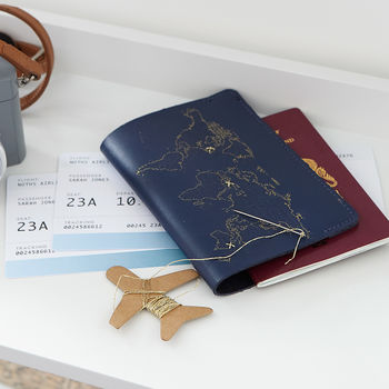 Luxe Leather Stitch Passport Cover