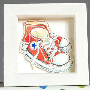 Personalised Baby Shoes Watercolour Illustration