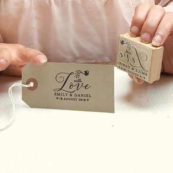 Personalised Wedding With Love Seed Rubber Stamp