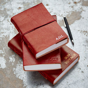 Personalised Handcrafted Leather Journals - stationery