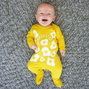 Eggshausted Baby Sleepsuit - clothing