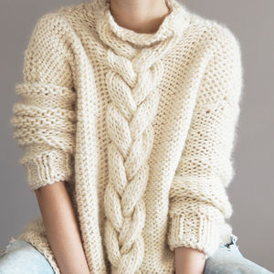 Cable Knit Jumper Knitting Kit - knitting kits