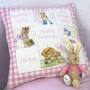 Beatrix Potter* Memory Cushion** - children's room