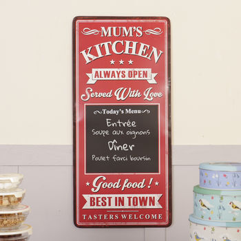 Mum's Kitchen Vintage Style Wall Sign And Chalkboard