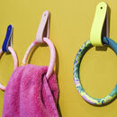 Jesmonite Marbled Towel Ring And Leather Strap