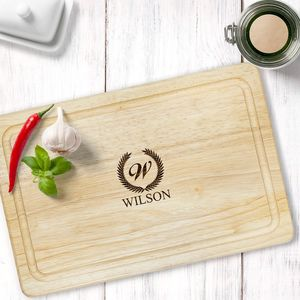 Personalised Family Wooden Carving Board - whatsnew