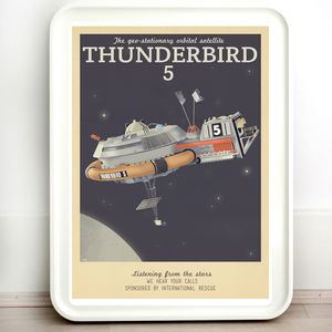 Thunderbirds Thunderbird Five Vintage Travel Print