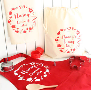 Personalised Baking Apron Set