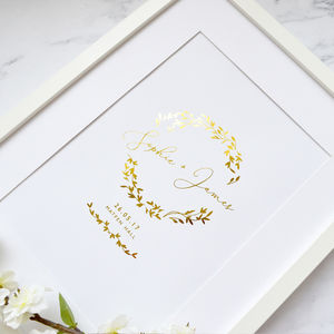 Foiled Wedding Gift Print - view all new