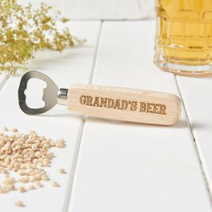 Personalised Grandad Beer Bottle Opener