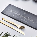 Slate Christmas Personalised Cheese Board