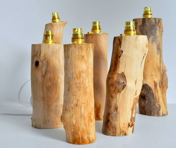 Log Lamp Base