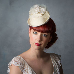 Vintage Style Bridal Flower Cocktail Hat - bridal hairpieces