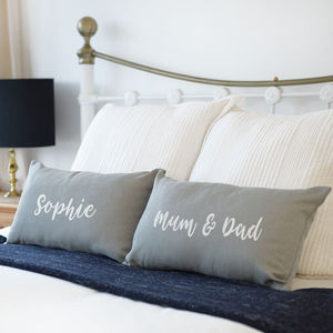 Personalised My Side Your Side Pair Of Cushions - bedroom