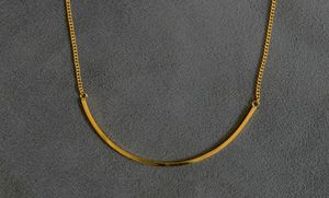 Gold Curved Necklace - necklaces & pendants