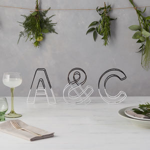 Monochrome Dip Wire Alphabet Letter Set