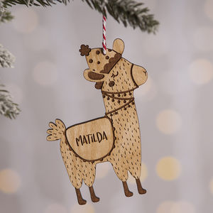 Christmas Llama Decoration - personalised