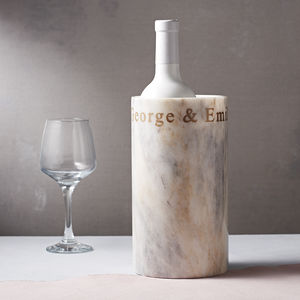 Personalised Marble Wine Cooler - shelves & racks