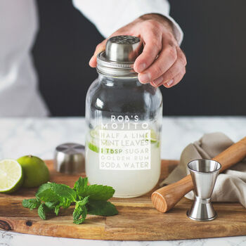 Personalised Recipe Cocktail Shaker Set