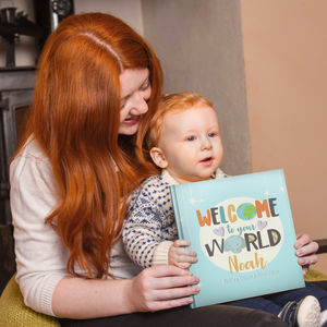 'Welcome To Your World' Personalised New Baby Book - new baby gifts