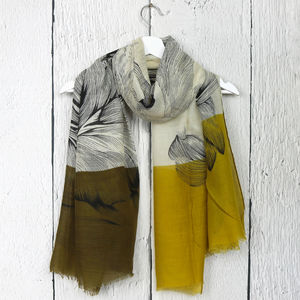 Botanical Lilly Print Scarf - scarves