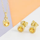 Citrine November Birthstone Gold Jewellery Gift Set