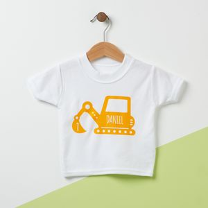 Digger Personalised Kid's T Shirt