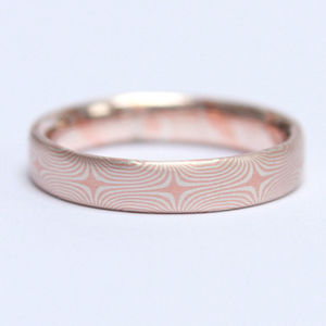 Mokume Gane Star Pattern Slim Wedding Band - what's new