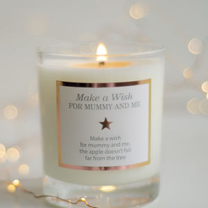 'Make A Wish For Mummy And Me' Candle