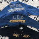 Kids Personalised Denim Jacket Fringed B/W Letters