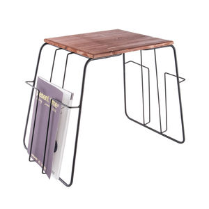Black Wire Magazine Rack Side Table - side tables