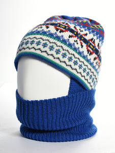 Jig Jag Merino Wool Balaclava Royal - hats, scarves & gloves