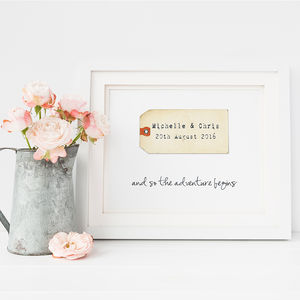 Personalised Luggage Tag Wedding Print - last-minute gifts