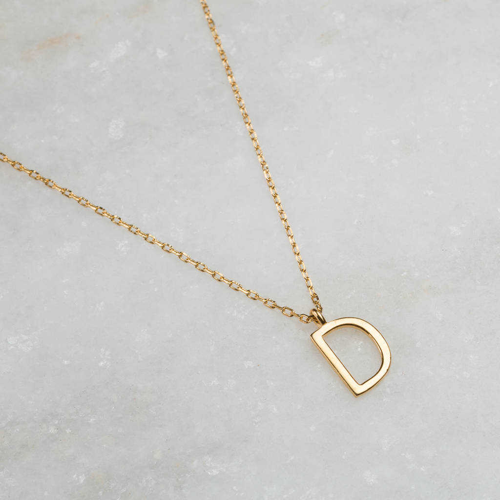 14k gold vermeil delicate initial pendant by carrie elizabeth 14k gold vermeil delicate initial pendant aloadofball Choice Image