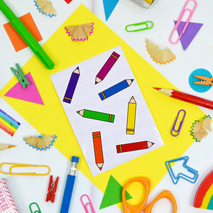 Rainbow Pencil Sticker Set - stickers