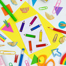 Rainbow Pencil Sticker Set