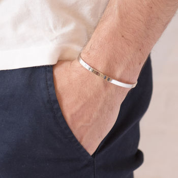 Men's Personalised Open Bangle for Dad