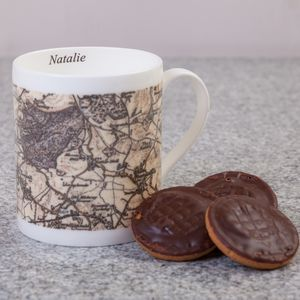Personalised Bone China Map Mug