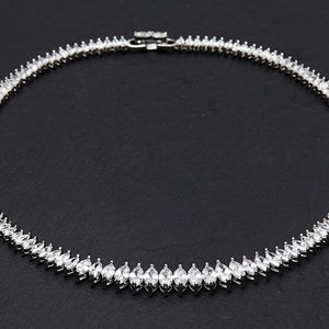 Classic Marquise Crystal Necklace - bridal bracelets