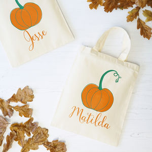 Personalised Pumpkin Halloween Trick Or Treat Bag - girls' bags & purses