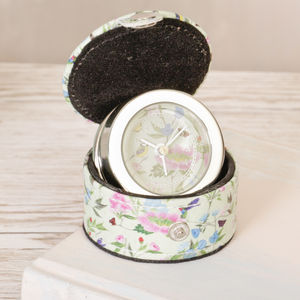 Botanical Birds Floral Travel Alarm Clock - clocks