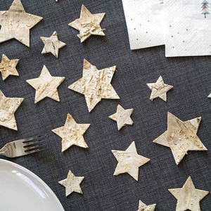 Wooden Star Scatter - new years eve entertaining
