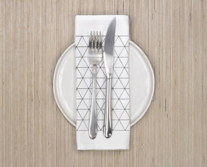 Monochrome Triangle Design Napkin Or Placemat - table linen
