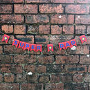 Super Dad Superhero Bunting on brick wall