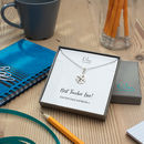 Teacher Thank You Necklace With Personalised Message