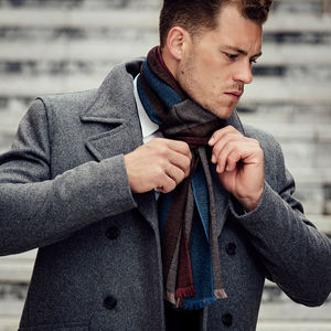 Hand Woven Cashmere Scarves For Men
