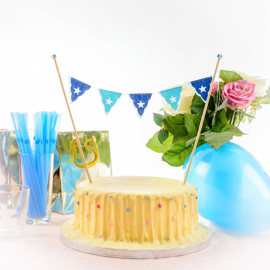 Blue All Star Mini Birthday Cake Bunting By Baloolah Bunting