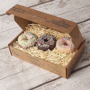 Chocolate Donut Trio Gift Box