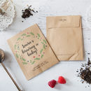 10 'Brewing A Baby' Baby Shower Tea Packet Favours