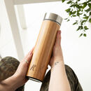 Personalised Reusable Initial Bamboo Drinks Bottle